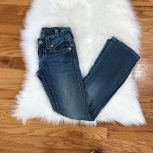 Miss Me Embellished Boot Cut Cross Jeans
